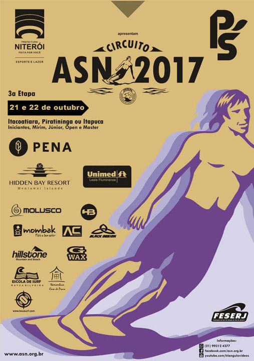Niterói – 3ª etapa do Circuito ASN 2017 rola nos dias 21 e 22 de outubro